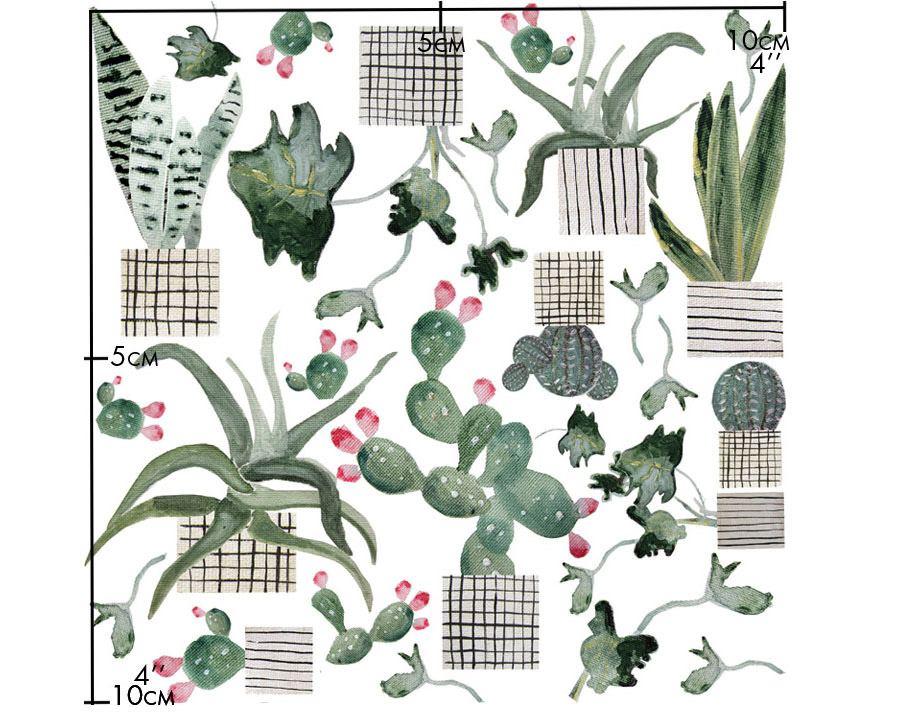 Porzellansticker Colourful Cactus