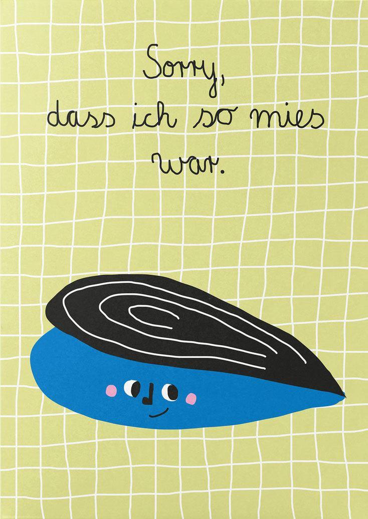 Miese Miesmuschel Postkarte