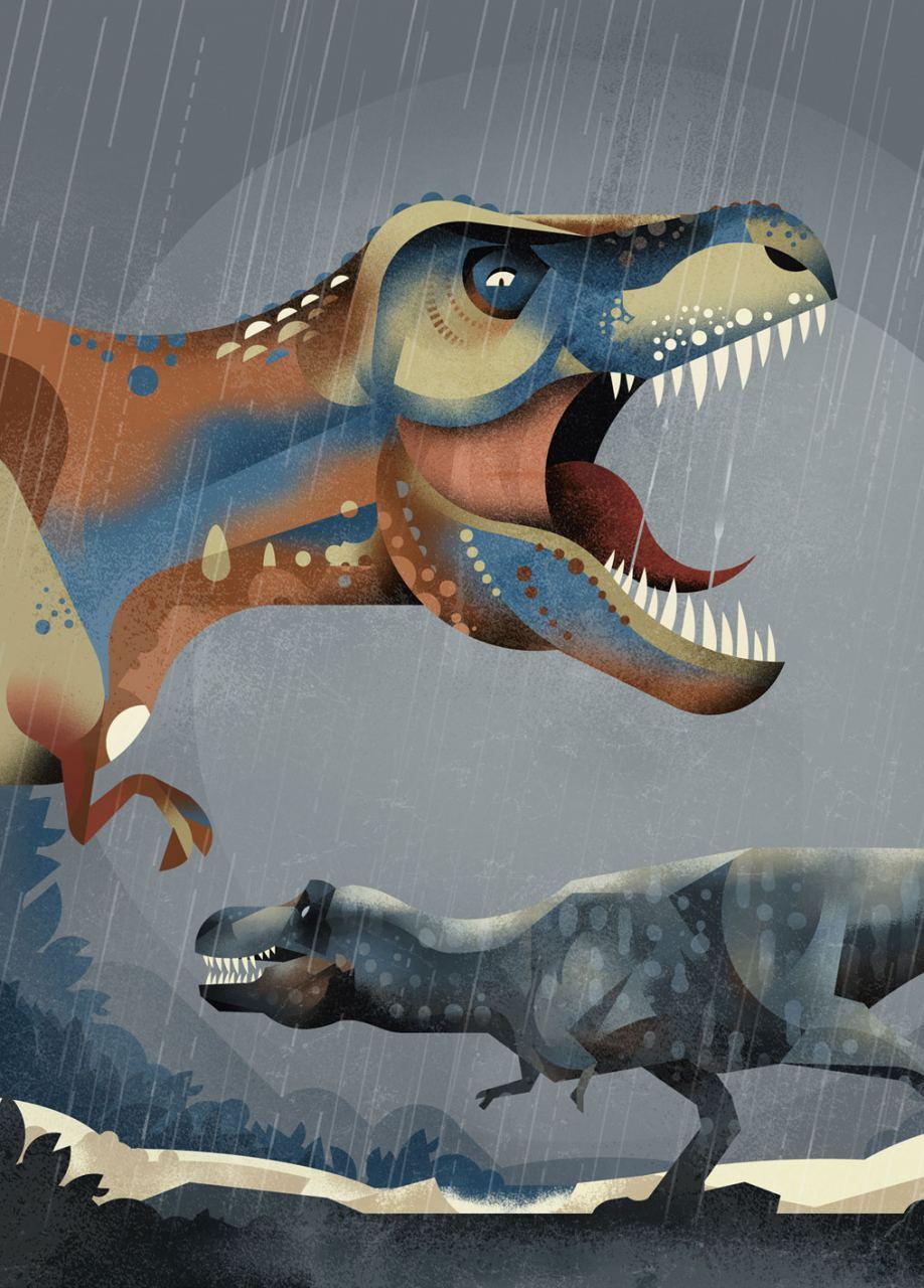 Tyrannosaurus Postkarte