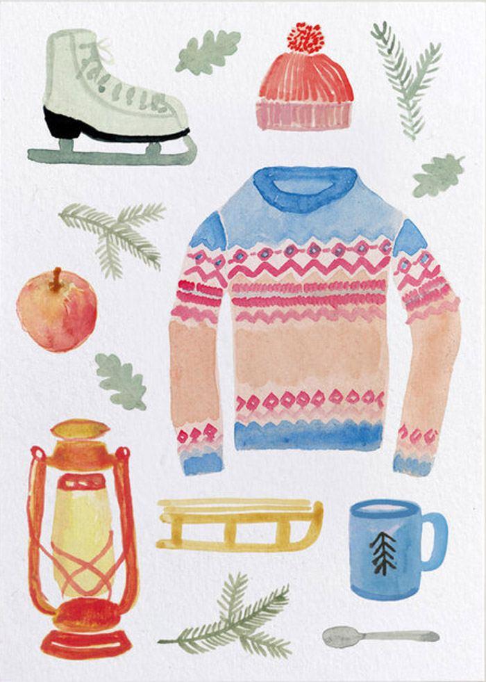 Winter Christmas Postkarte