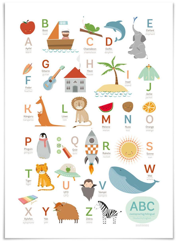 ABC Deutsch/Englisch Poster (50x70cm)