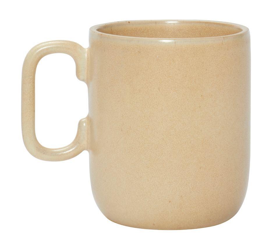 Becher Keramik Sand