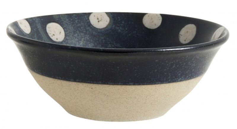 GRAINY DOT Schale Keramik Dark Blue / Sand