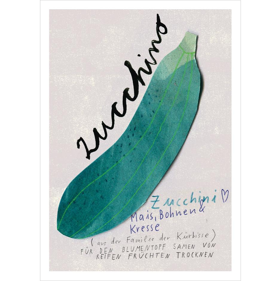 Zucchini Postkarte A6