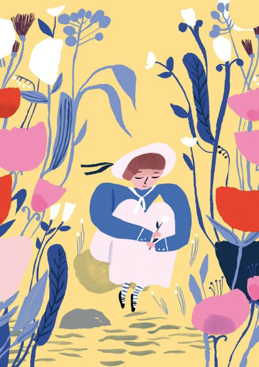 Blooming Postkarte