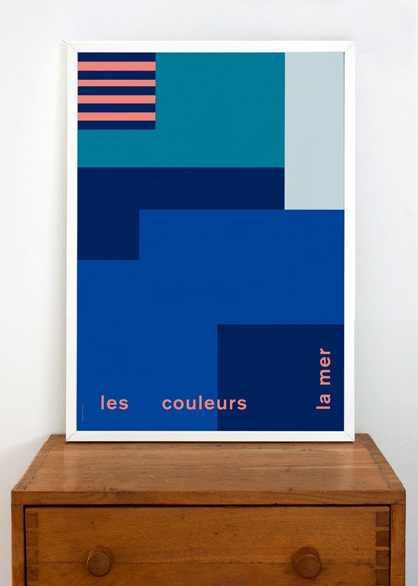 Les Couleurs La Mer Poster