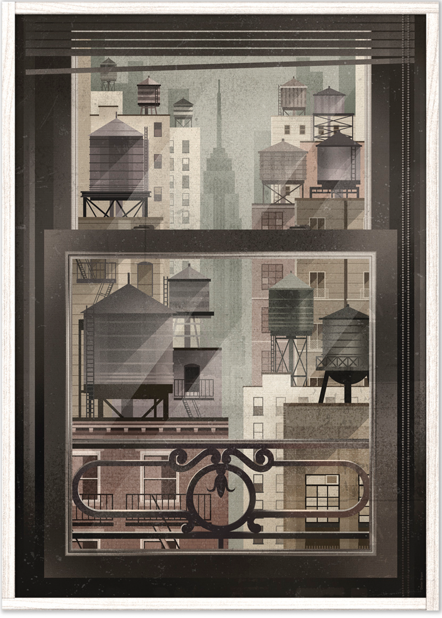 NYC Window Poster (50 x 70 cm)