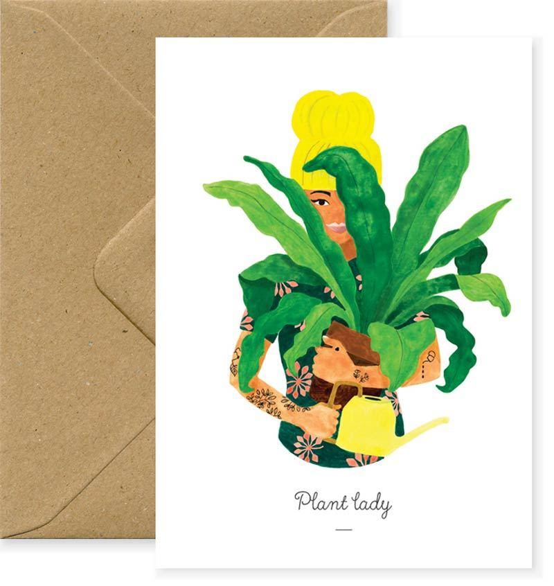 Plant Lady Karte