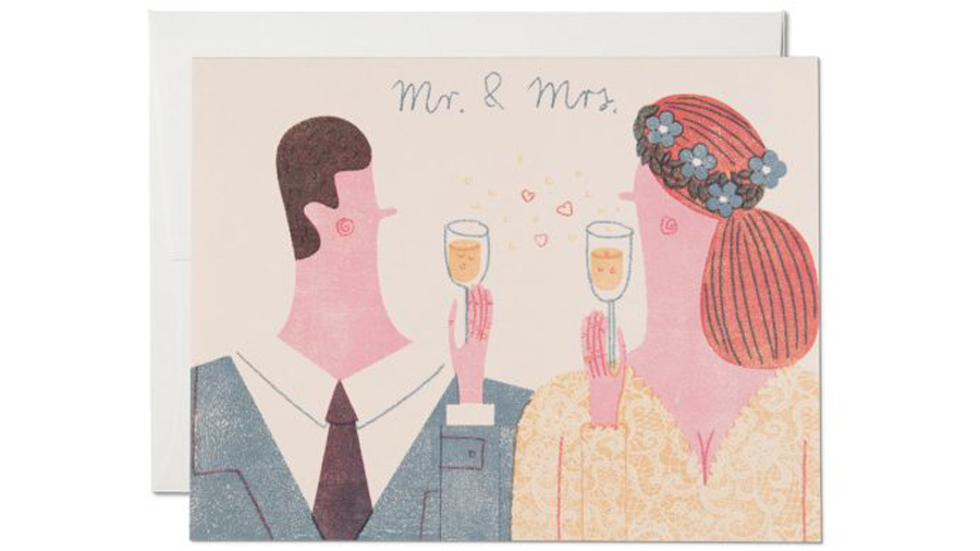 Mr. & Mrs. Klappkarte