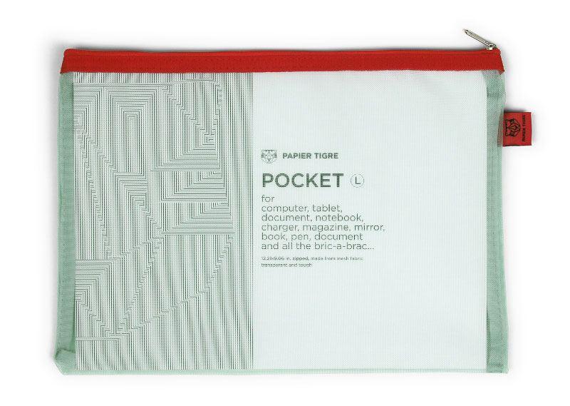 Papier Tigre Mesh Pocket L Aqua