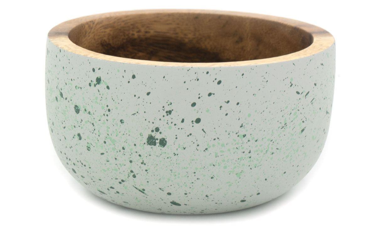 Schale Aca Splattered Grey w/ green (ø 11 cm)