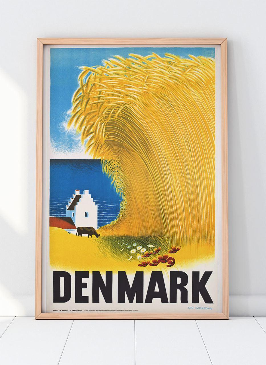 Denmark Plakat (62 x 100 cm)