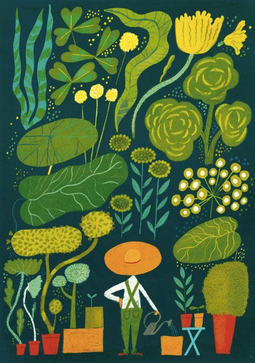 Garden Postkarte