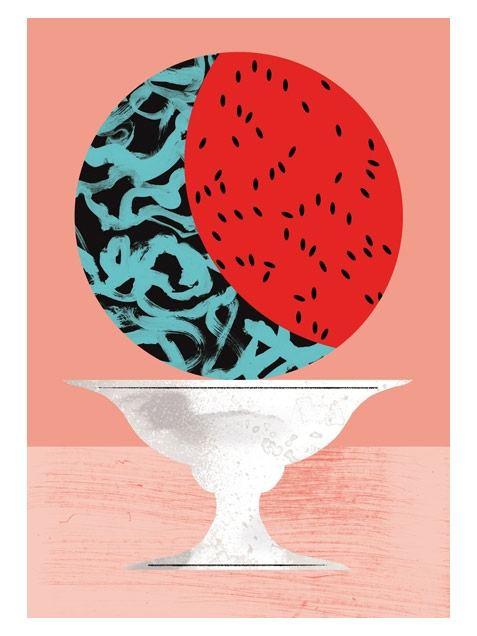 Watermelon Print A3