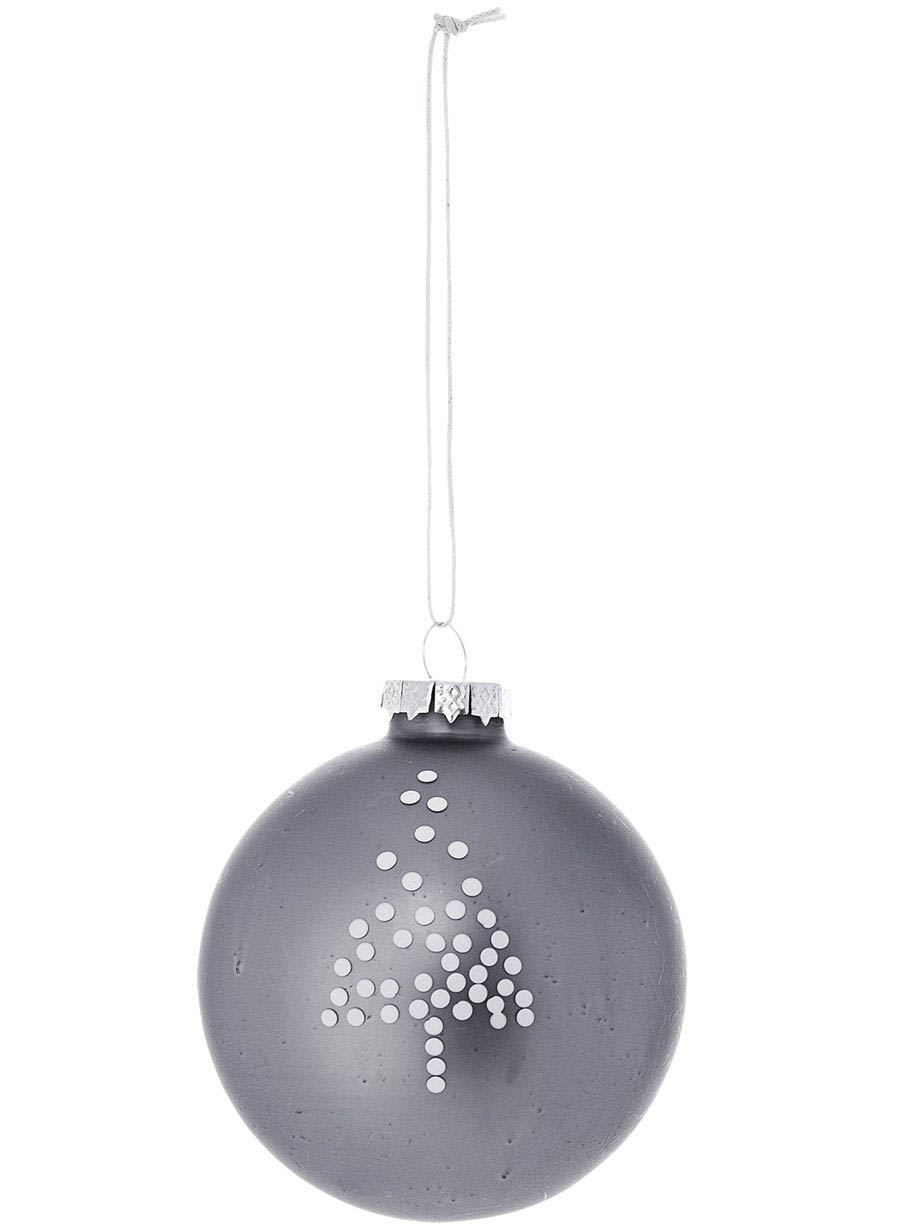 Ornament Glas Grey #4
