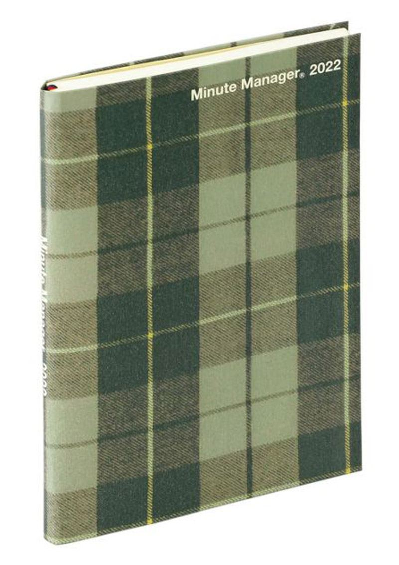 2022 Diary Minute Manager A5 Green