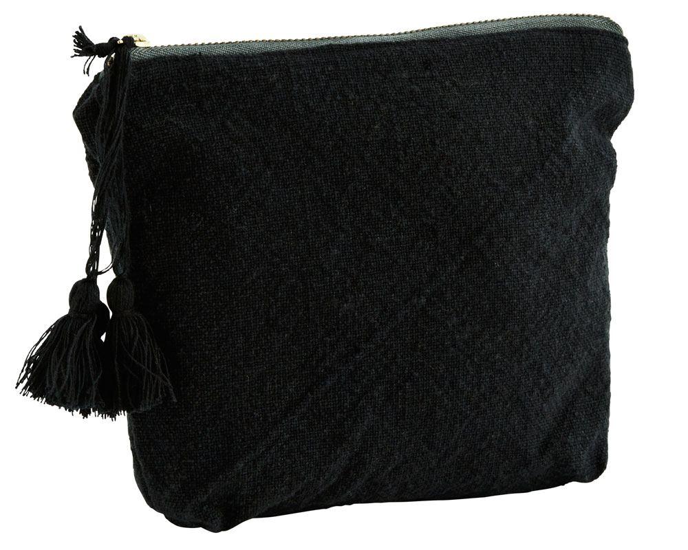 Baumwolltasche Tassel Anthrazit