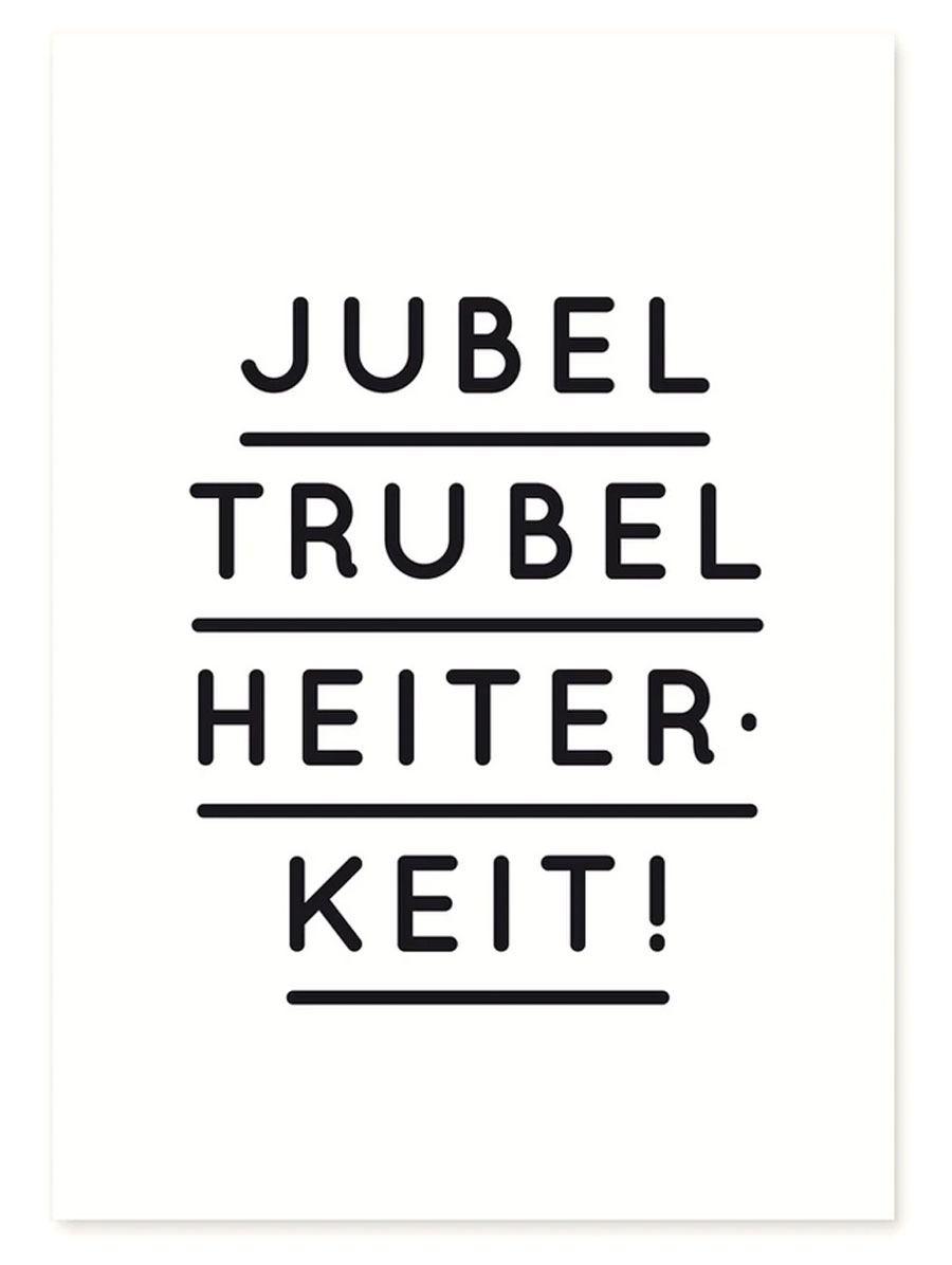 Jubel Trubel Heiterkeit Schwarz Postkarte