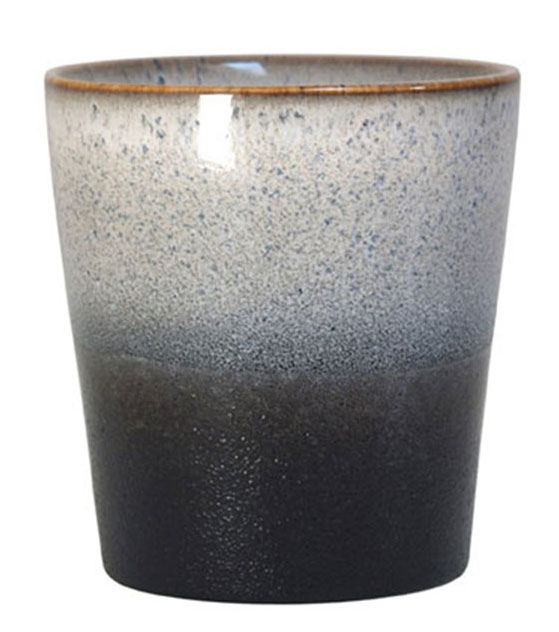70's Keramikbecher Rock