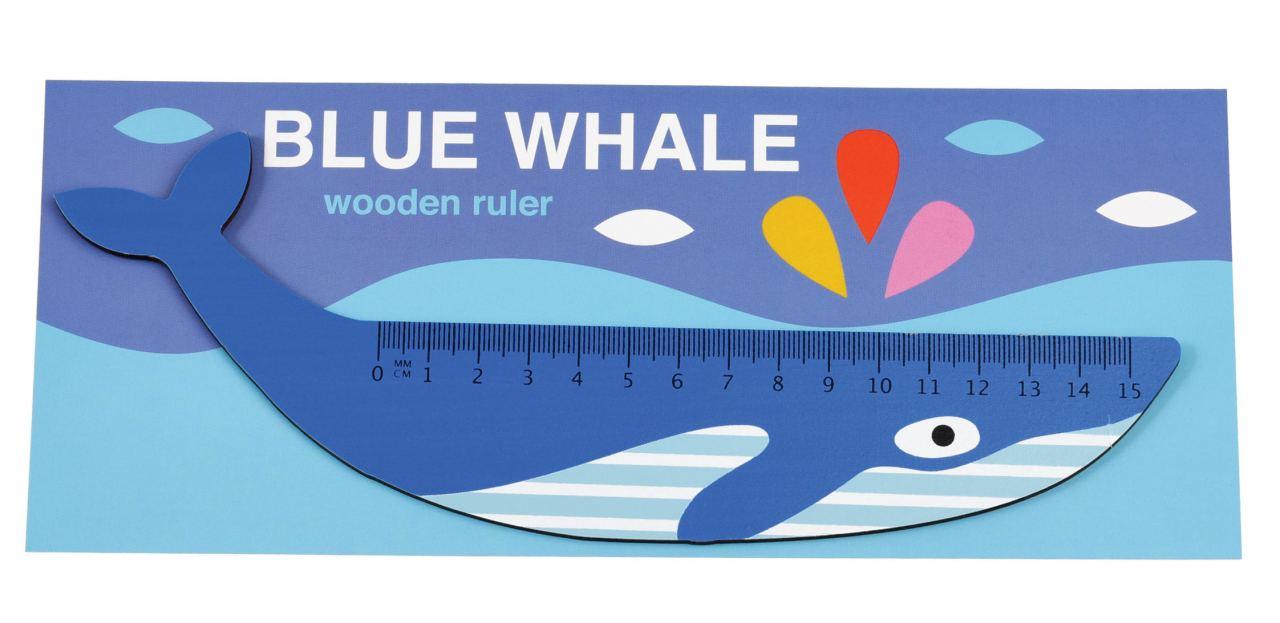 Holzlineal Blauwal