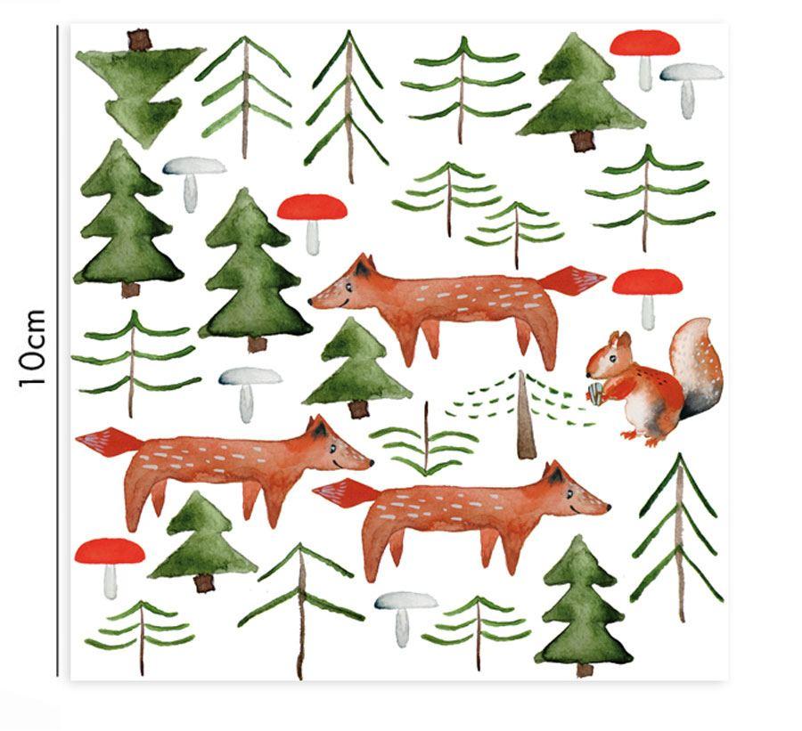 Porzellansticker Waldtiere
