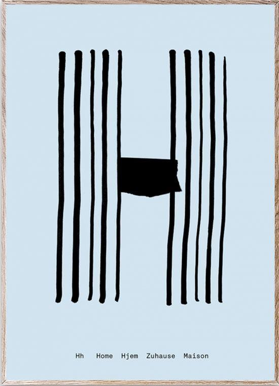 H - Alphabet Spaghetti Letter Print (Din A5)