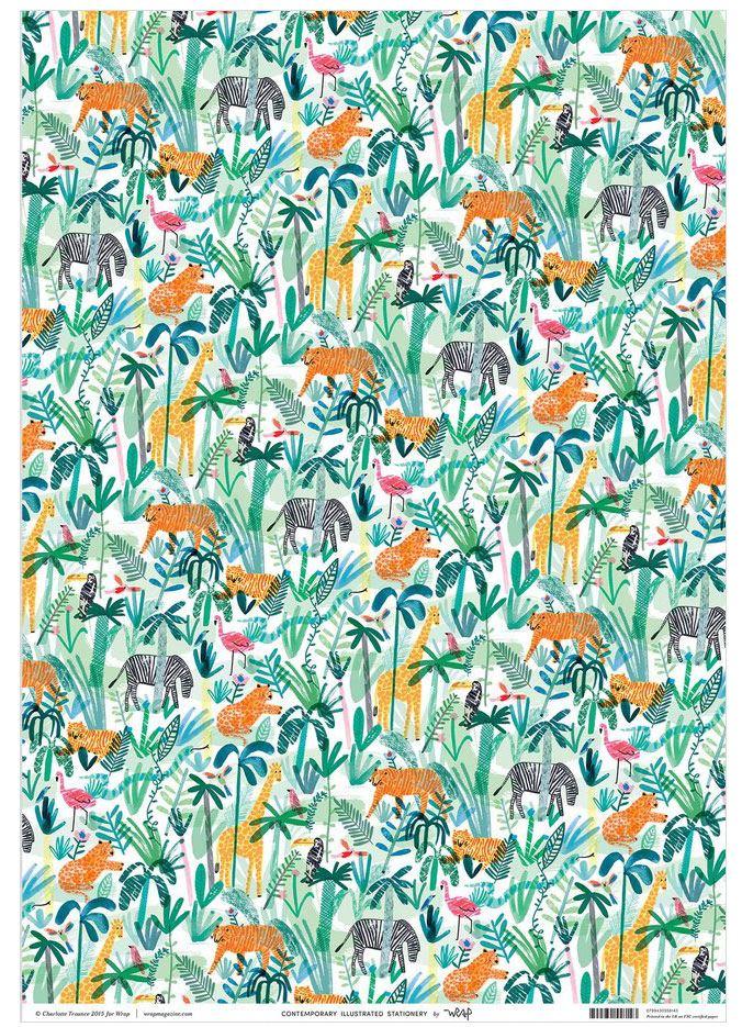Jungle Animals Geschenkpapier