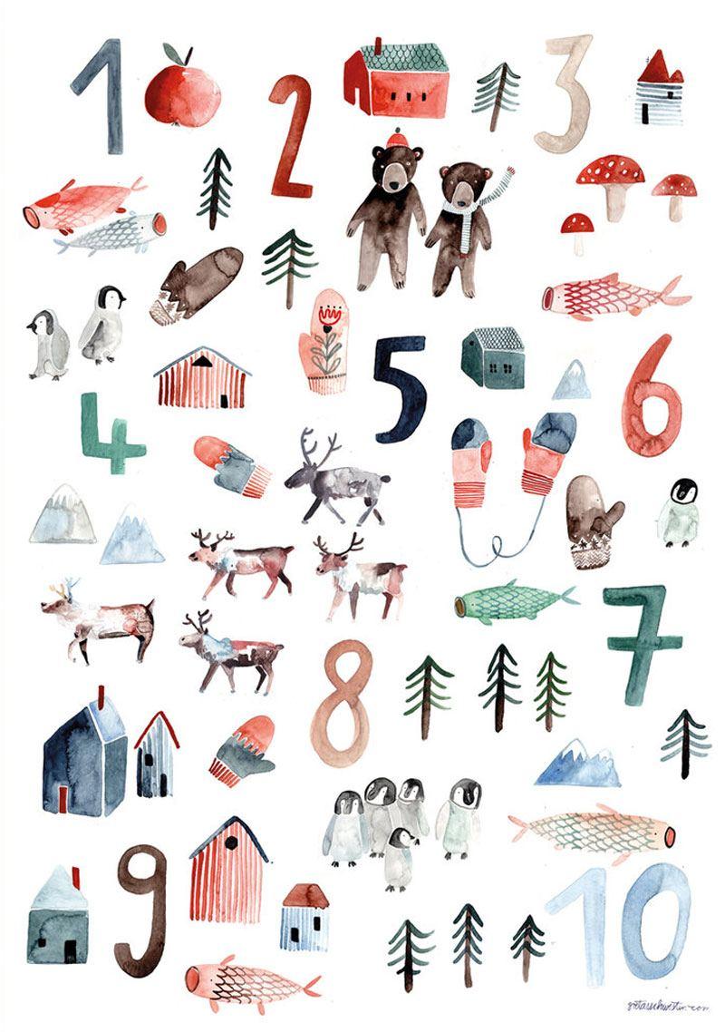 Zahlen Poster (Din A2)