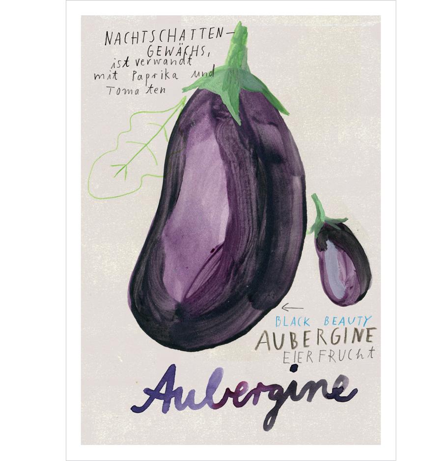Aubergine Postkarte A6