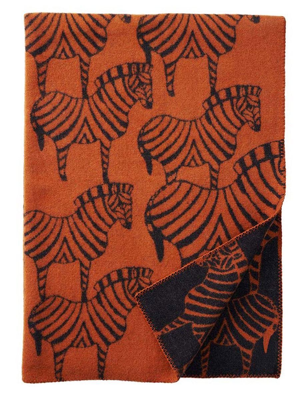 Zebra Wolldecke Orange