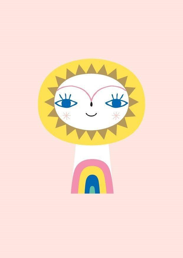 Mr. Sun Postkarte