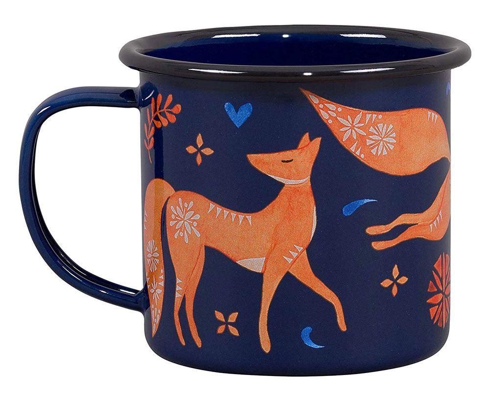 Folklore Emaillebecher Fuchs