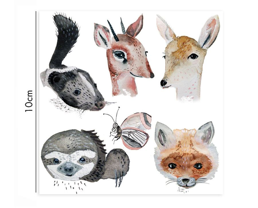 Porzellansticker Watercolour Animals