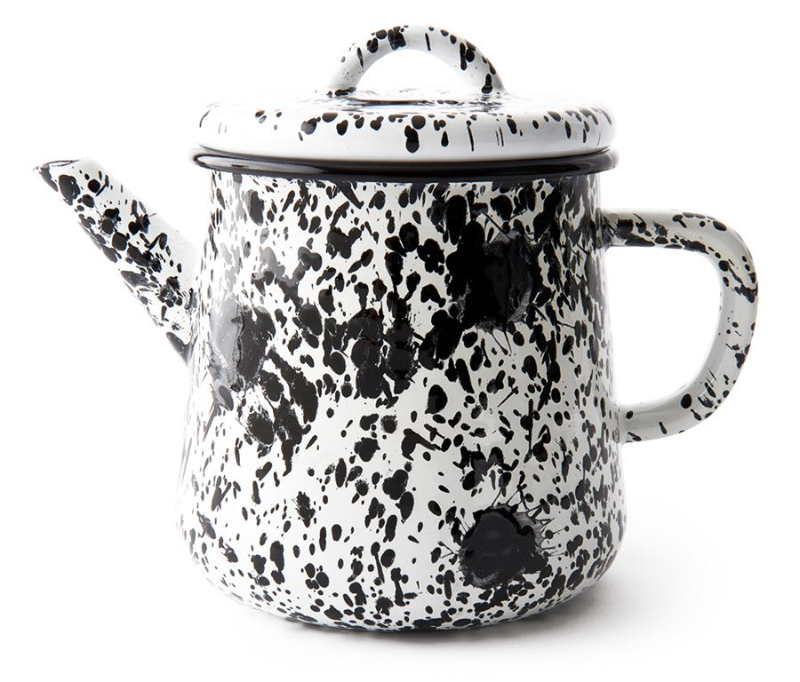 Monochrome Tea Pot Black and White