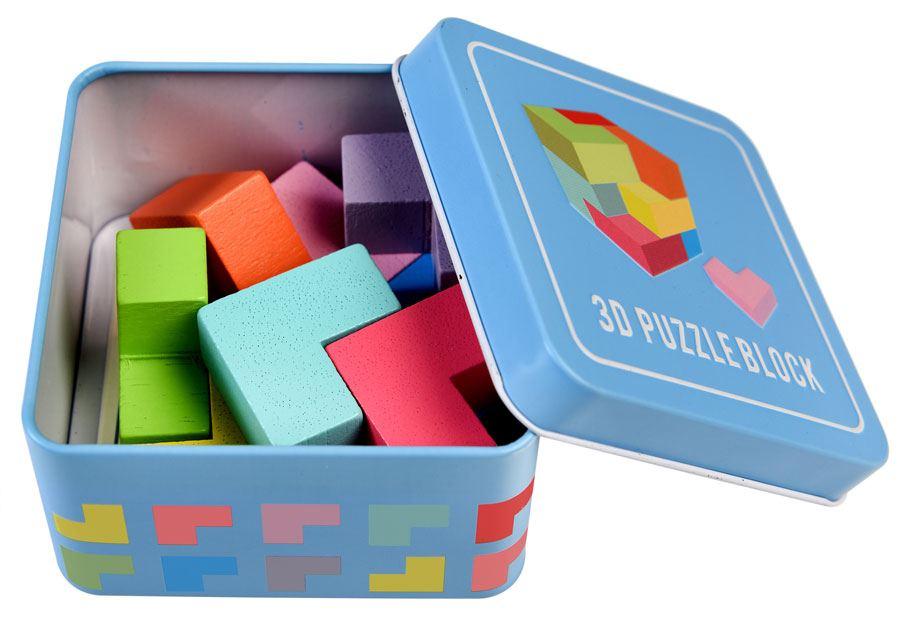 Hölzernes 3D-Blockpuzzle