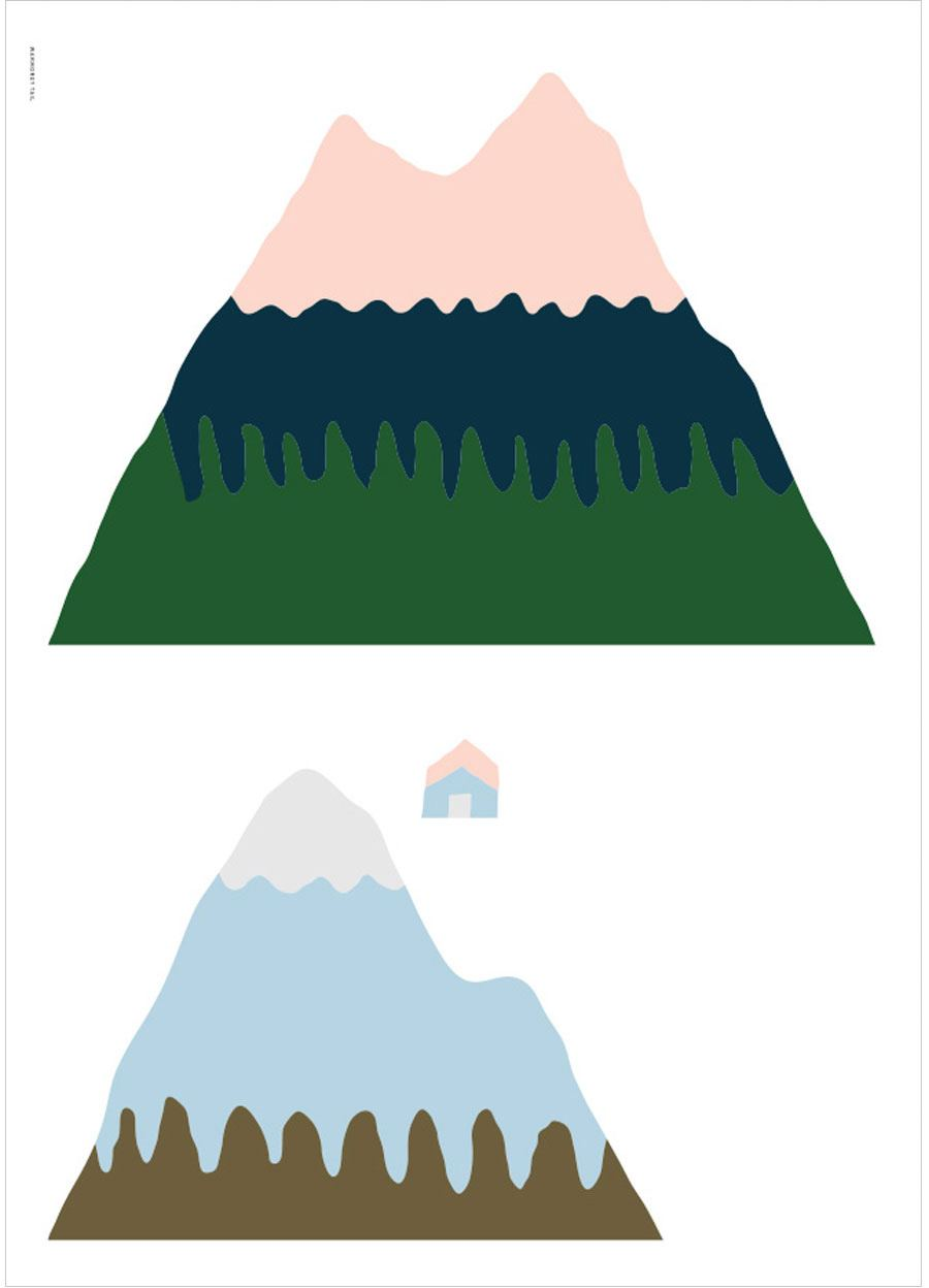 Pink Mountain Poster (50x70cm)