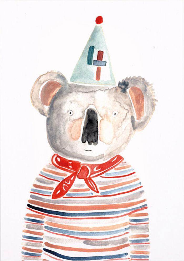 Geburtstagskoala 4 Jahre Postkarte
