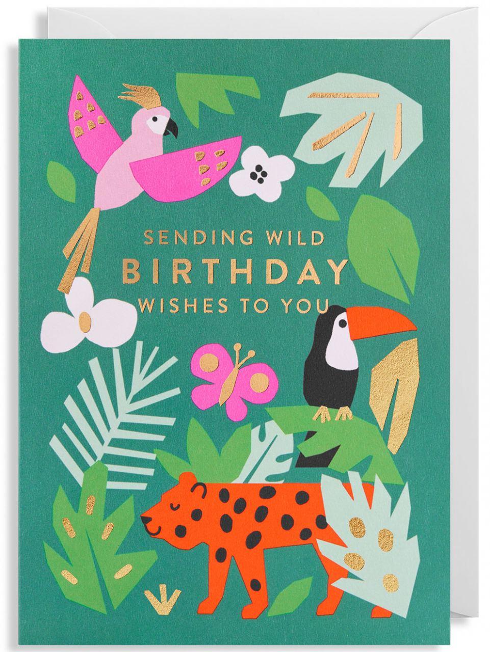 Wild Birthday Wishes Klappkarte