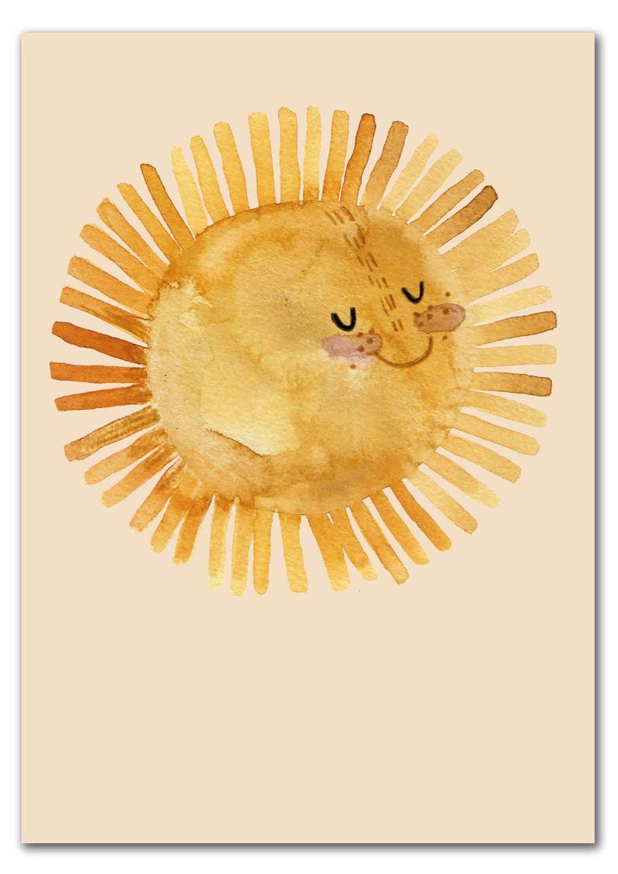 Sonne Postkarte