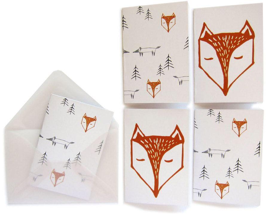 Fox in the forest Minikarten (10St.)
