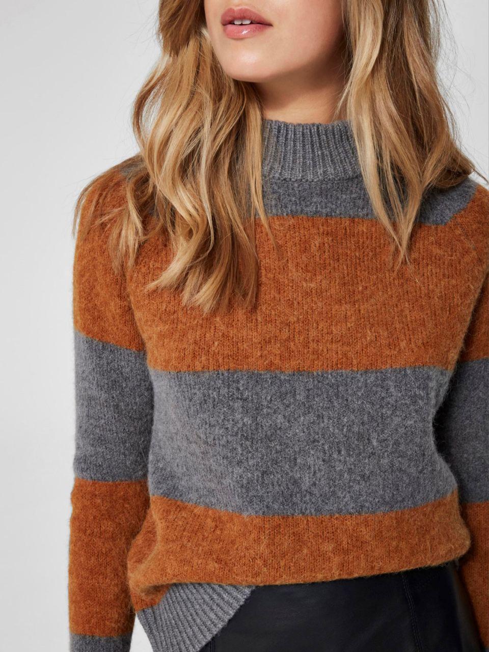 SLFISABELLA Strick-Pullover Glazed Ginger Stripes
