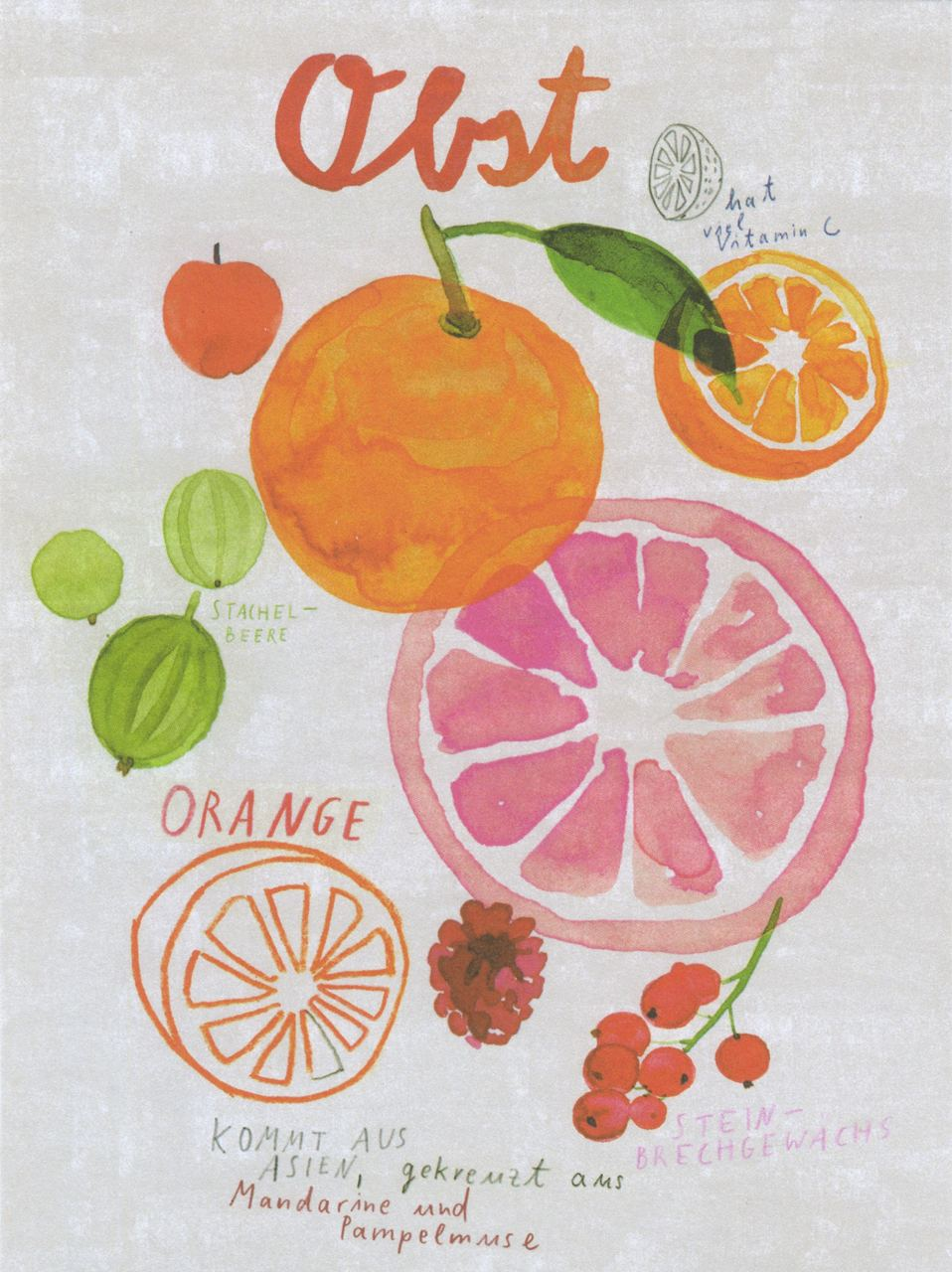 Obst Print (Din A3)