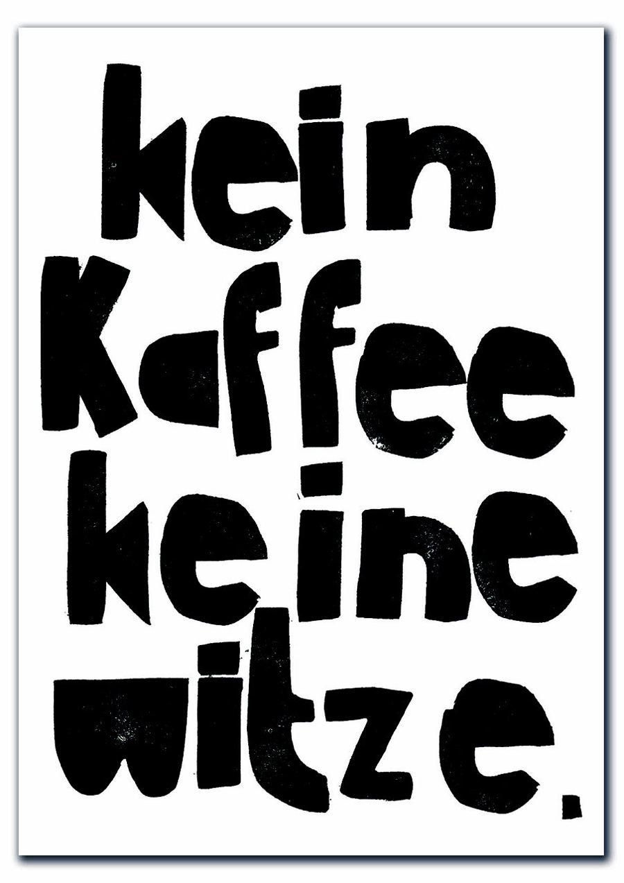 Kein Kaffee - keine Witze Postkarte