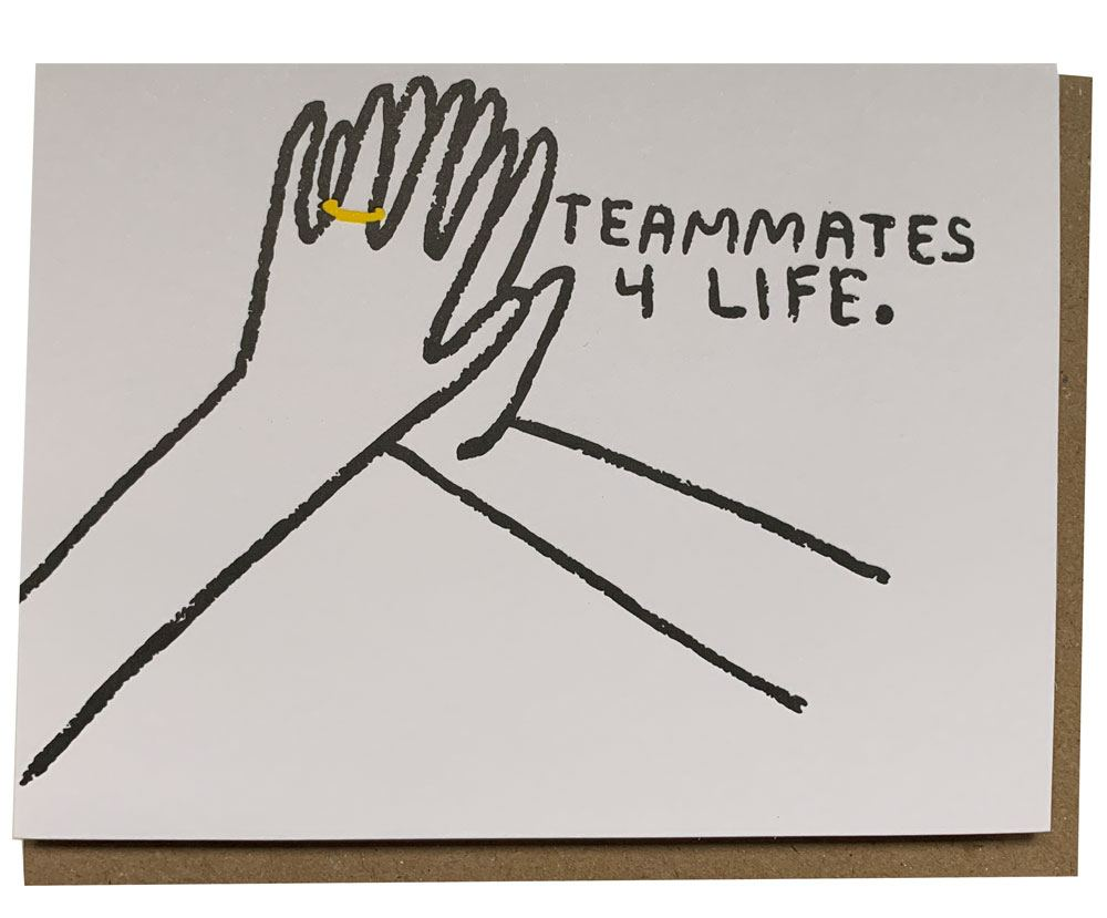 Teammates 4 Life Klappkarte