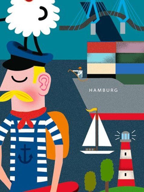 Hamburg Erklärbuch Poster