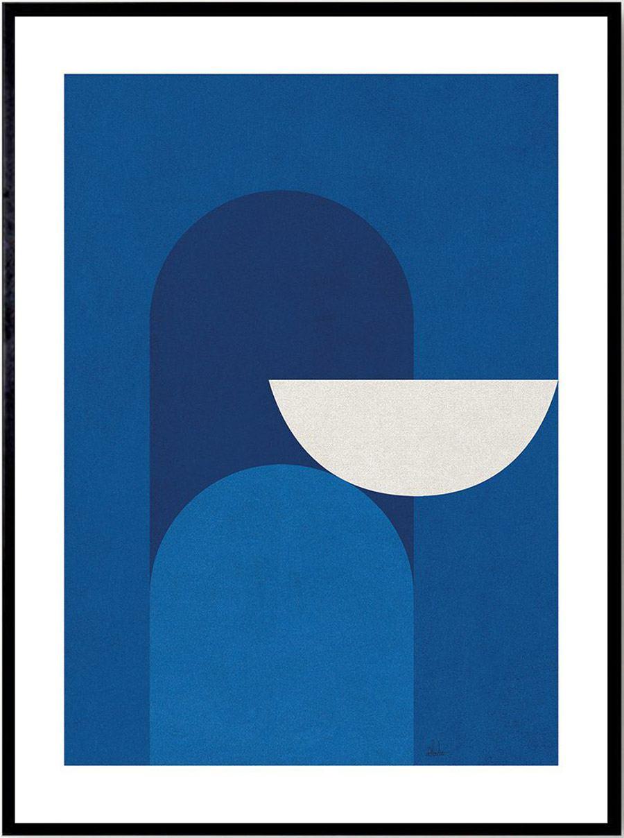 Abstract Blue Print (30x40cm)