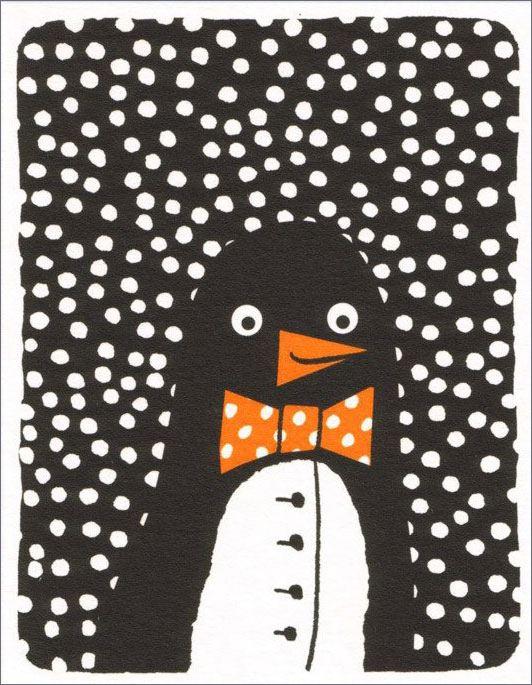 Penguin Suit Klappkarte
