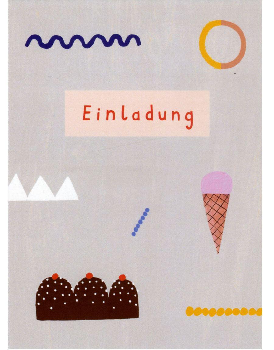 Einladung Postkarte