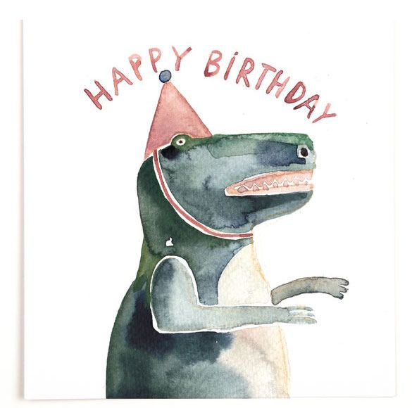 Happy Birthday T-Rex Postkarte