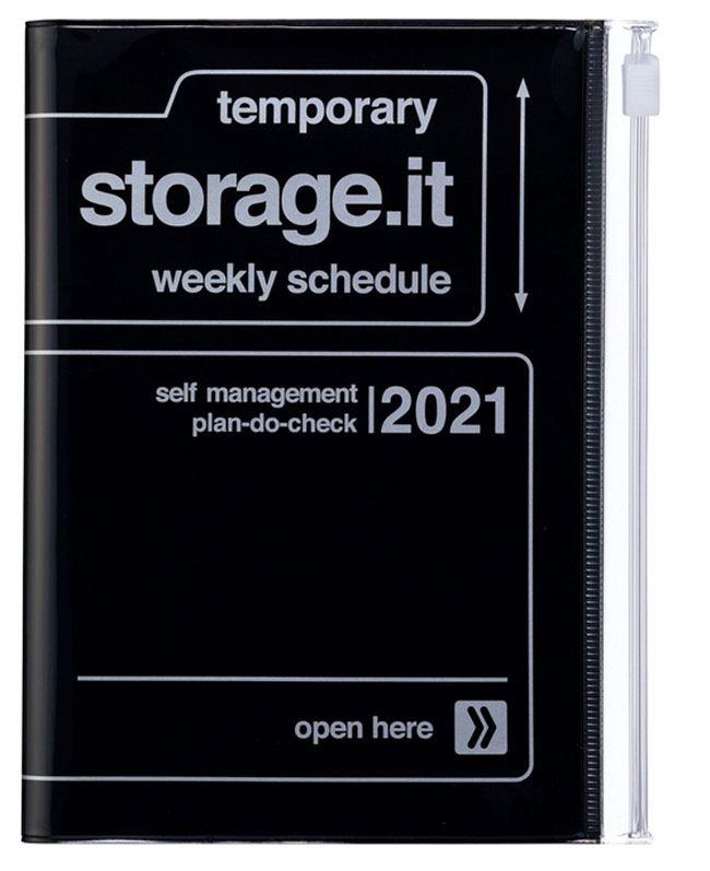 2021 Taschenkalender A6 Storage.it Black